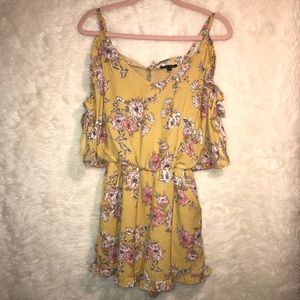 Altar'd State Yellow Floral Romper